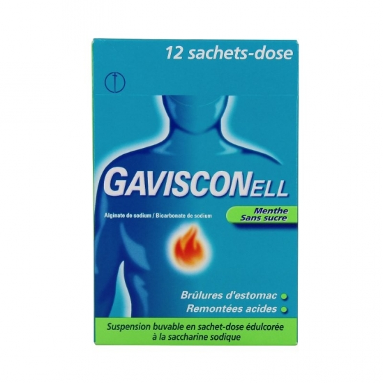 Gavisconell Menthe Sans Sucre Suspension Buvable 12 Sachets-Dose