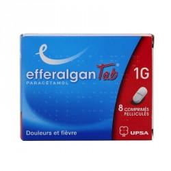 EfferalganTab paracétamol 1g 8 comprimés pelliculés