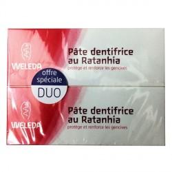 Weleda pâte dentifrice au ratanhia duo 75ml