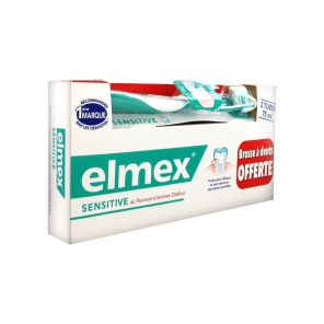 Elmex Dentifrice Sensitive 2 x 75 ml + Brosse à Dents Offerte