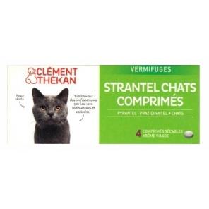 Strantel vermifuges chats 4 comprimés