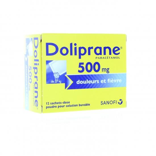 DOLIPRANE 500MG PDR OR B/12SACH