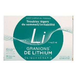 Granions de Lithium 30 ampoules
