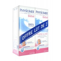 Physiomer Hygiène Nasale Nourrissons Micro-Diffusion Lot de 2 x 115 ml