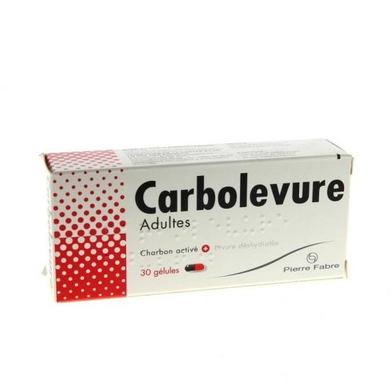 Carbolevure Adultes 30 gélules