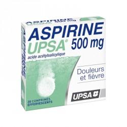 Aspirine UPSA 500mg 20 comprimés effervescents