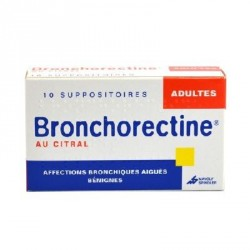 Bronchorectine au citral adultes 10 suppositoires