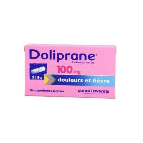 Doliprane 100mg 10 suppositoires