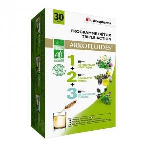 Arkofluides Programme Détox Triple Action Bio 3X10 ampoules