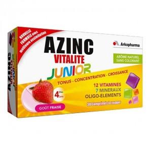 AZINC VITALITE JUNIOR FRAISE 30CP NSFP