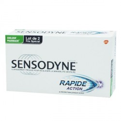 Sensodyne dentifrice rapide action 2x75ml