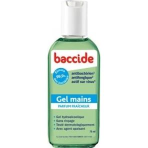 Baccide gel hydro-alccolique parfum fraicheur 75ml +33% gratuit