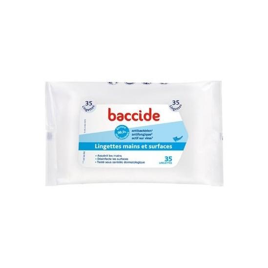 Baccide lingettes mains et surfaces - Boite de 35
