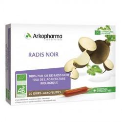Arkofluide bio radis noir 20x10ml ampoules