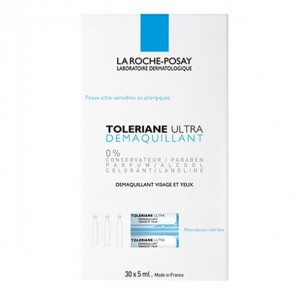 La Roche Posay tolériane démaquillant yeux 30 doses x 5ml