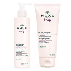 Nuxe body lait hydratant + gel douche