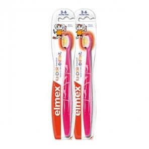 Elmex brosse à dents enfant 3-6 ans lot de 2