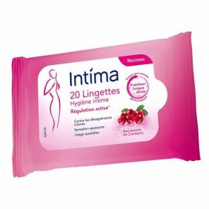 Intima lingettes cranberry paquet de 30