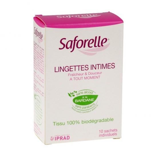 Saforelle muqueuses et peaux sensibles 10 lingettes