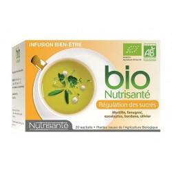 Nutrisanté Infusion bio cholestérol et régulation des sucres 20 sachets